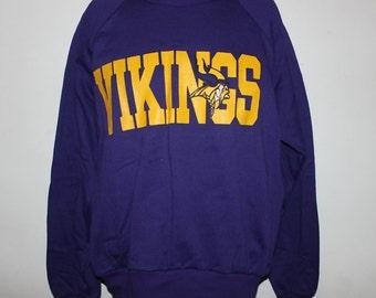 Vintage Deadstock Minnesota Vikings NFL Crewneck Sweatshirt L d4c816cab