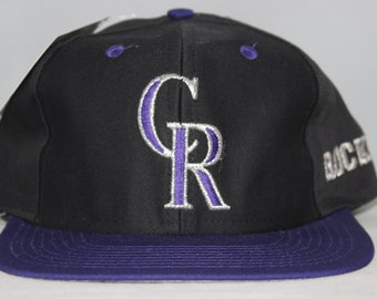 buy popular e607e 46893 Vintage Deadstock Colorado Rockies MLB Snapback Hat