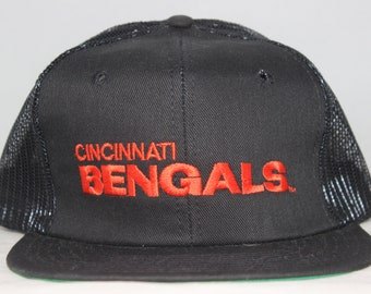 8dadcba3286 Vintage Cincinnati Bengals AJD NFL Snapback Hat