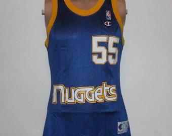 Vintage Denver Nuggets Dikembe Mutombo Champion NBA Jersey 36 fa150cd9c