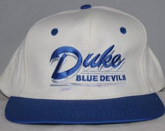 Vintage Duke Blue Devils NCAA Snapback Hat 9ccbc0f0b852