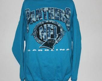 17c6d544b Vintage Carolina Panthers NFL Crewneck Sweatshirt L