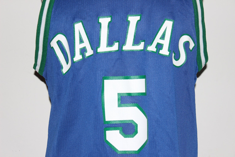 reputable site b5e64 a3311 Vintage Dallas Mavericks Jason Kidd Champion NBA Jersey 44