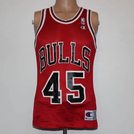 sports shoes b768a 116a8 Vintage Chicago Bulls Michael Jordan Champion Jersey 36