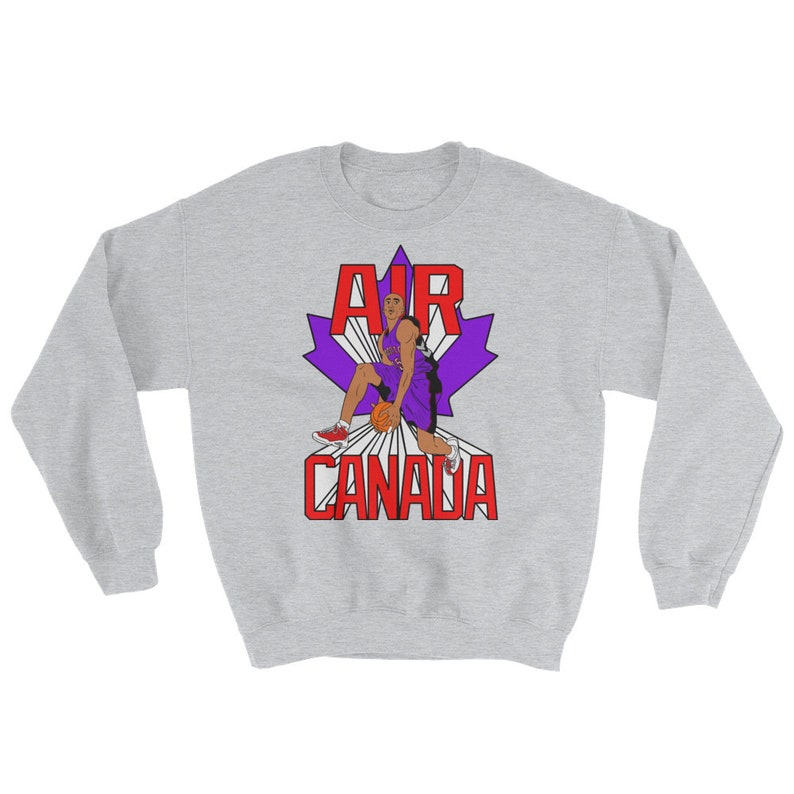 9c22cfe7693 Vince Carter 'Air Canada' Graphic Crewneck Sweatshirt | Etsy