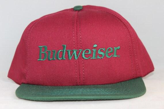 Vintage Budweiser Beer Snapback Hat  d2a88a8fe2e3