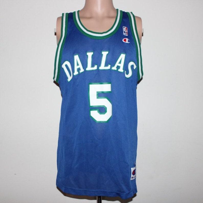8d5c8a63000 Vintage Dallas Mavericks Jason Kidd Champion NBA Jersey 44
