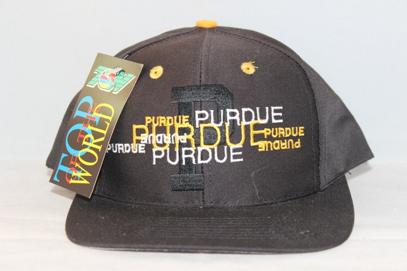 detailed look 1127d 2ad56 Vintage Purdue Boilermakers NCAA Snapback Hat   Etsy