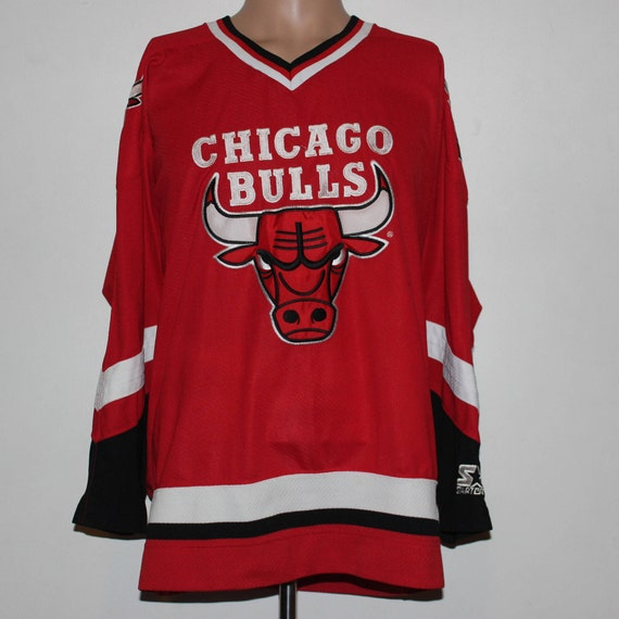 Vintage Chicago Bulls STARTER Hockey Jersey L