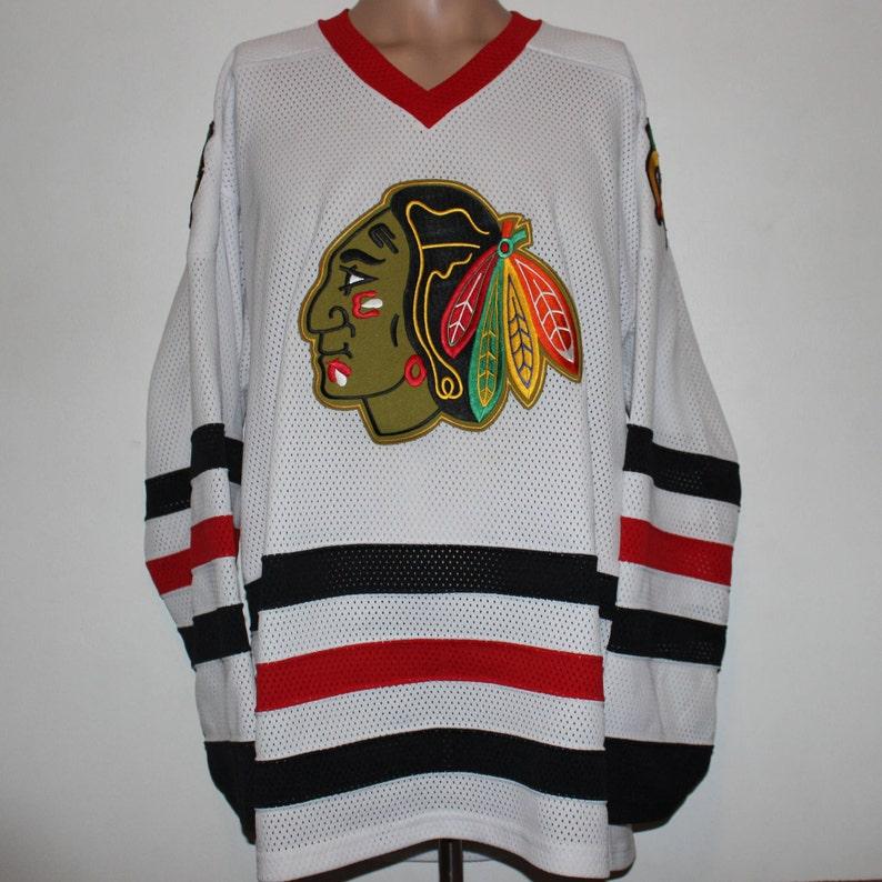 78a481e2d Vintage Chicago Blackhawks CCM NHL Jersey L | Etsy