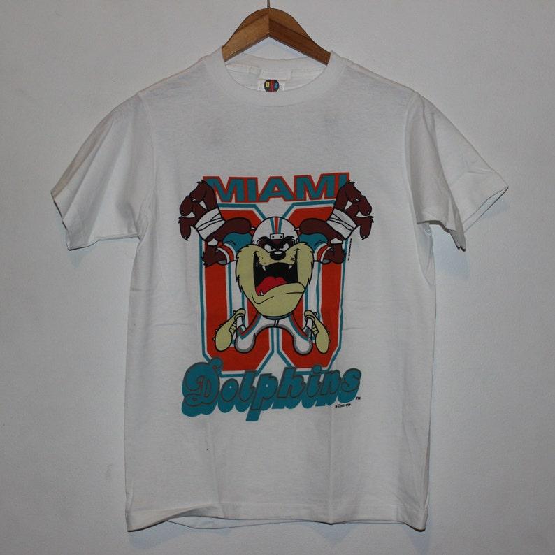 Vintage Miami Dolphins Taz NFL T-Shirt Youth L  c4761f495