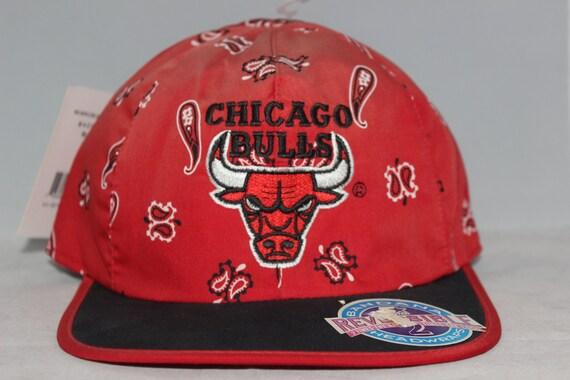 Vintage Chicago Bulls Reversible Starter NBA Bandana Hat  75de99f5ee0
