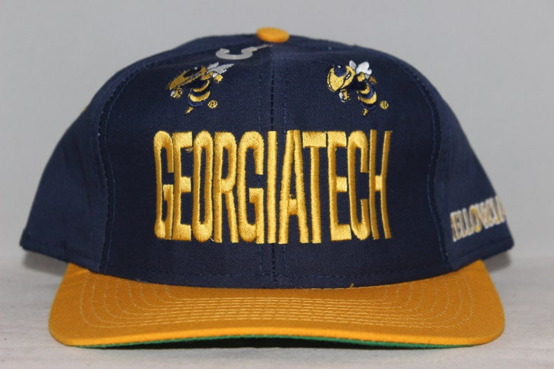 new products 03967 79862 Vintage Georgia Tech Yellow Jackets NCAA Fitted Hat   Etsy