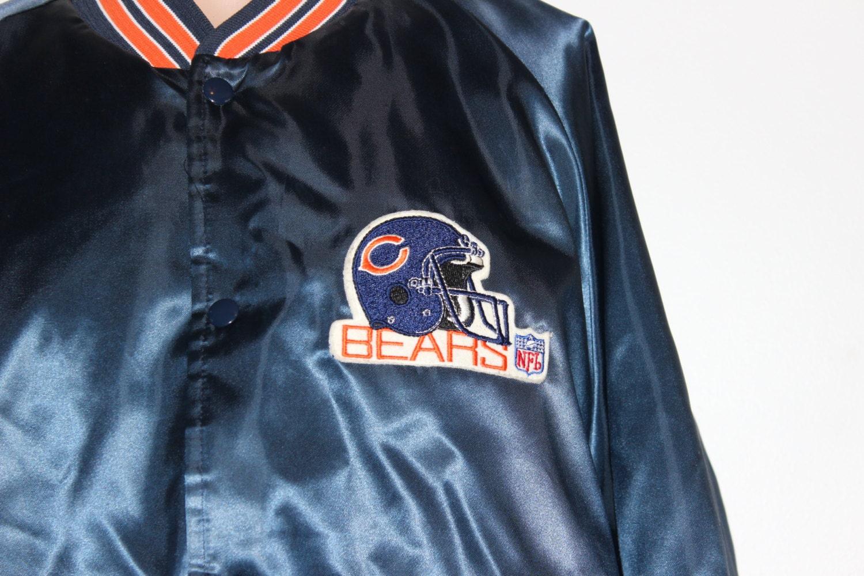 reputable site 10bef d7820 Vintage Chicago Bears Satin Chalk Line NFL Jacket L