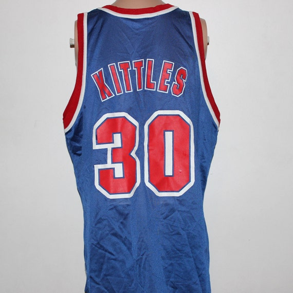 Vintage New Jersey Nets Kerry Kittles Champion NBA Jersey 48  56dd0dd4c
