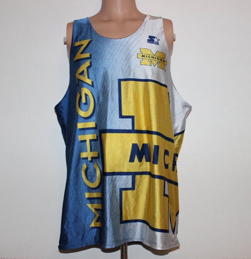 Vintage Michigan Wolverines Reversible Chris Webber Starter Etsy