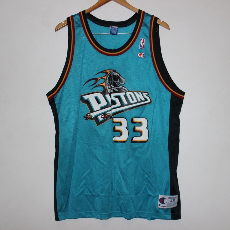 on sale 8b8f9 f622f Vintage Detroit Pistons Grant Hill Champion NBA Jersey 48