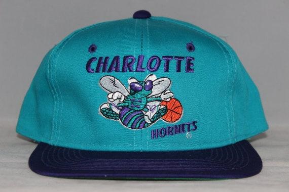 Vintage Deadstock Charlotte Hornets Nba Snapback Hat Etsy