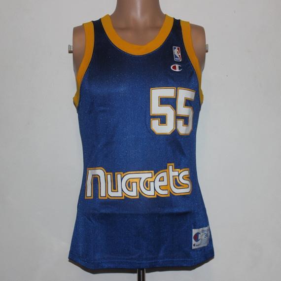 beb5558a Vintage Denver Nuggets Dikembe Mutombo Champion NBA Jersey 36 | Etsy