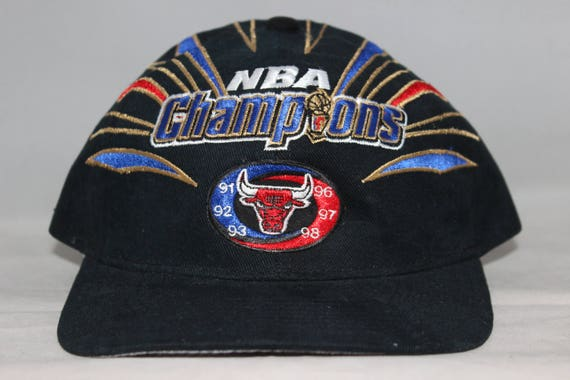 9c3c89ec0fe ... usa vintage chicago bulls starter 1998 nba champions hat 4aeb9 c7bff ...