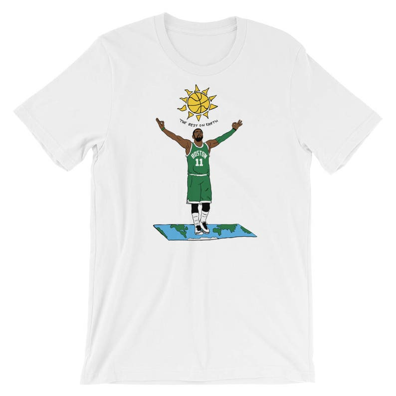 new arrival 9eeb9 857a1 Kyrie Irving Flat Earth Graphic T-Shirt   Etsy