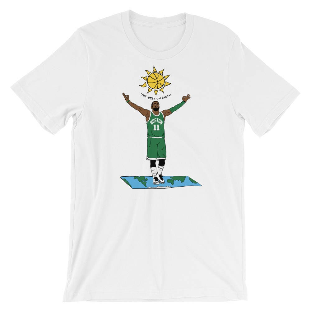 43eedb49 Kyrie Irving Flat Earth Graphic T-Shirt   Etsy