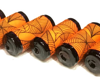 Spider Web Paper Beads