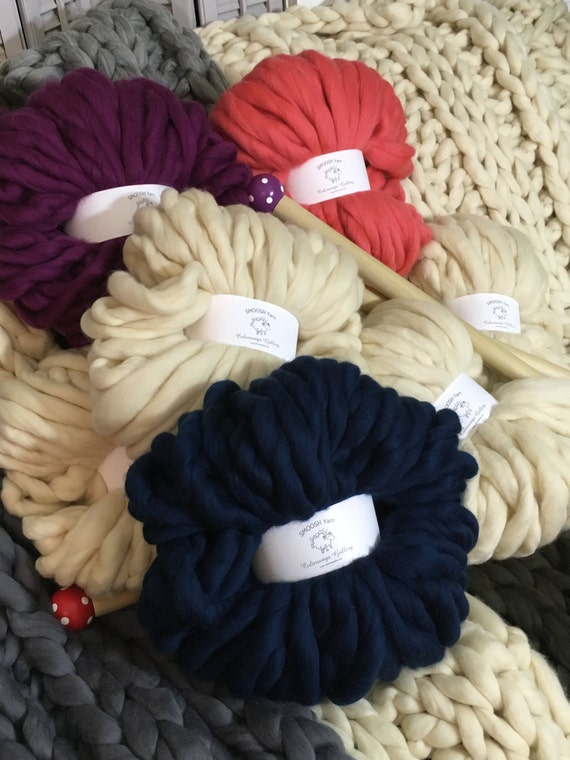 REFILL COLOR Choice!  Chunky Blanket, 4.4# Chunky Yarn