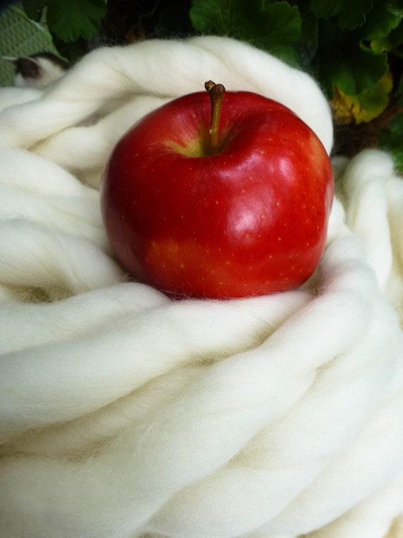 "Giant Chunky, Thickest, Softest Yarn, Super- THICK Yarn, ""Smoosh Yarn"" ™ For Chunky Blankets, Extreme Hand Spun yarn"