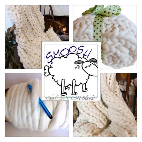 KNIT KIT Yarn Large Refill! Chunky Blanket/Scarves, Tutorial, Patterns,