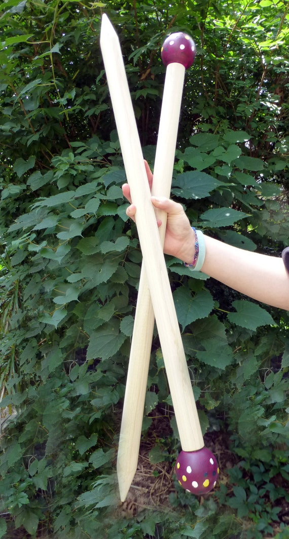 "Giant Knitting Needles, 24"" SMOOSH STIX, Made for Smoosh Yarn."