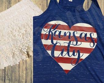 Kansas City Heart Tank/T-Shirt
