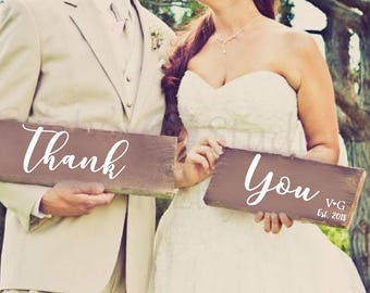 Wedding Thank You Signs - Wood Wedding Signs