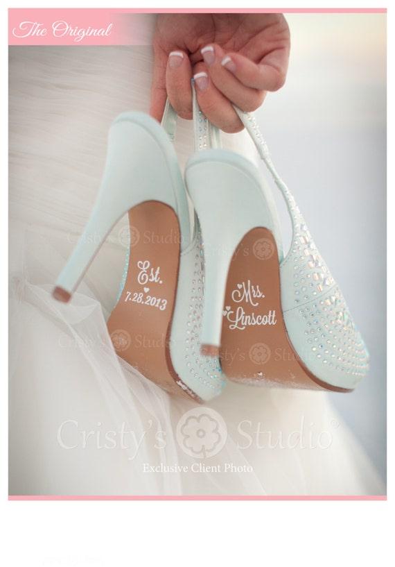 Wedding Shoe Decals - Shoe Decals for Wedding
