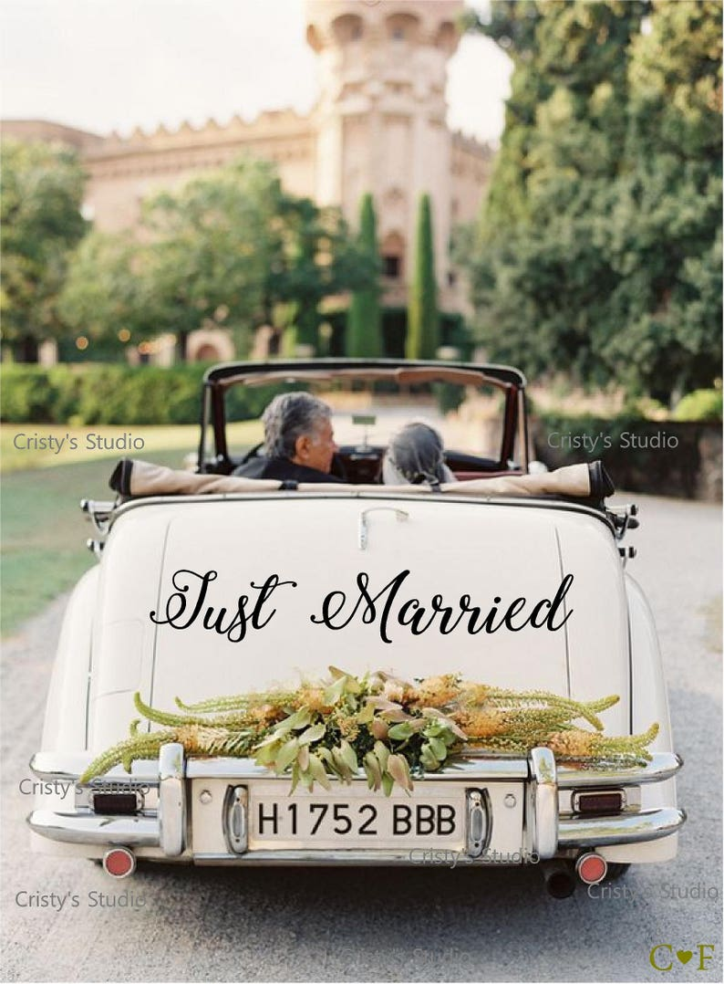 just married car decal  etsy