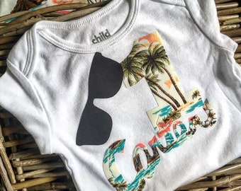 Hawaii Cool Surfer Silhouette Baby Boys Girls Jumpsuit Overall Romper Bodysuit Summer Clothes Gray