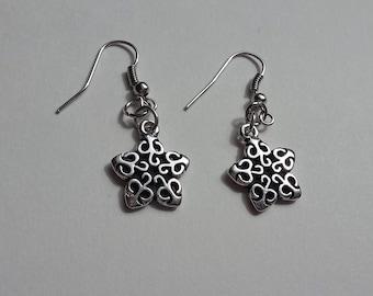 Silver-Plated Star Earrings