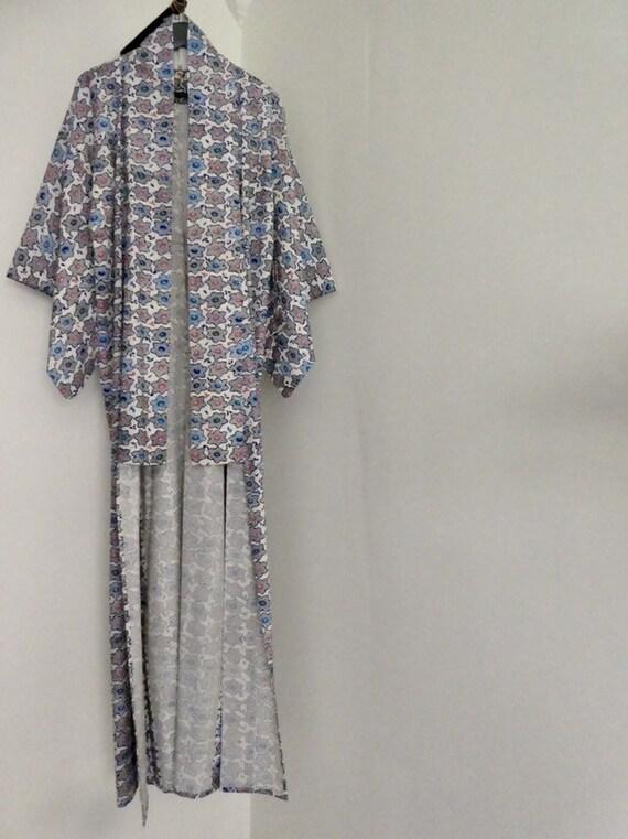 Vintage Printed Cotton Kimono