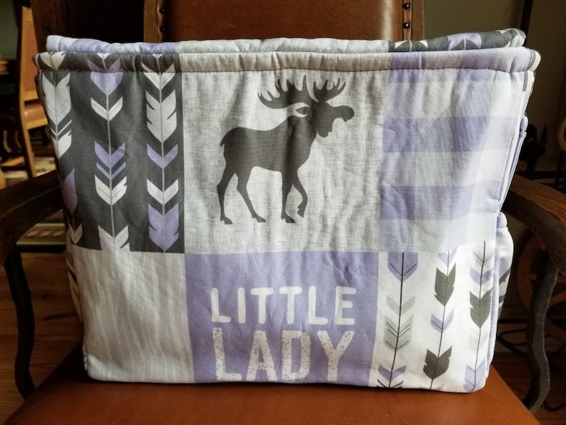 Lilac Little Lady Diaper Bag.