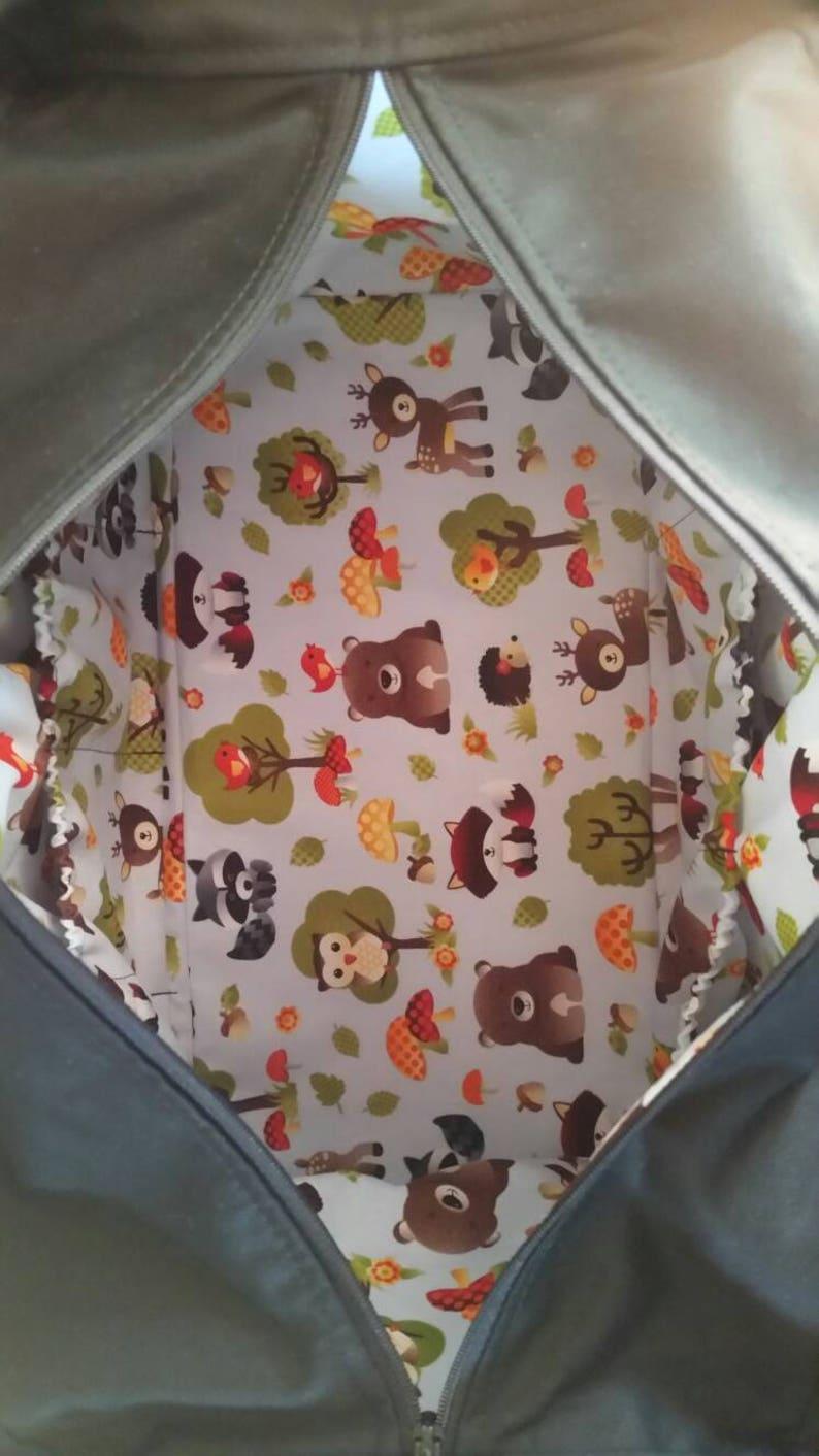 Adorable Woodland animals diaper bag