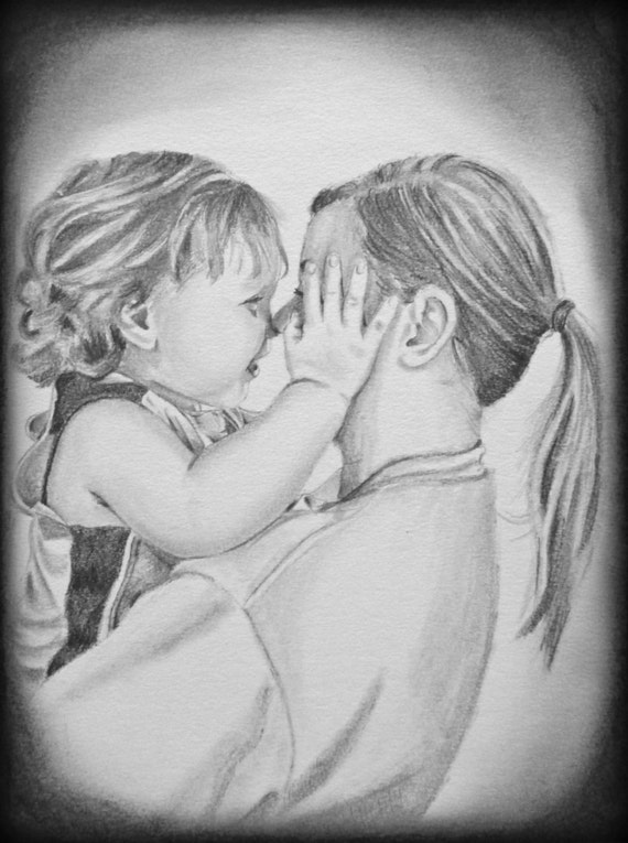 Image result for MOM WITH BABY SKETCH