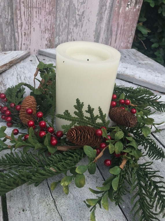 image 0 - Decorative Christmas Candle Rings