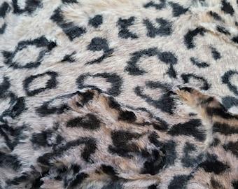 Shannon Ocelot Cuddle Fabric, Minky Ocelot Fabric, Ocelot Cuddle Fabric, Ocelot, Animal Print, Sold in 1 Yard Lengths