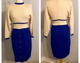 19148521537 Vintage 80 s St. John Knit Two-Toned dress