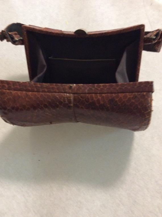 Vintage 40's Snakeskin box purse - image 2