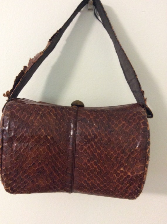 Vintage 40's Snakeskin box purse