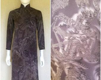 Cheongsam dress w side slits  Sz xs