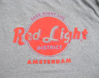 Amsterdam RED LIGHT District Vintage Tshirt