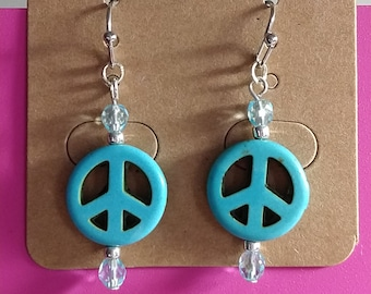Peace Sign Earrings - small