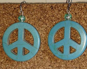 Peace Sign Earrings - Medium